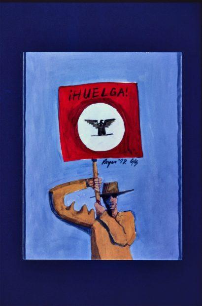 Felipe Reyes (b. 1944), ¡Huelga! (Strike), dated 1972