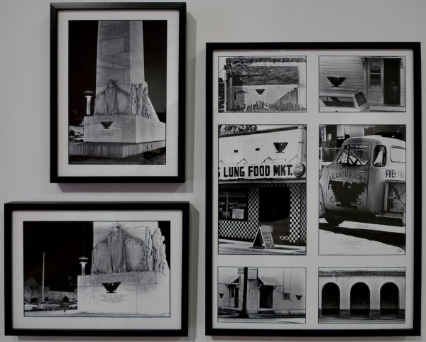 Cesar Martinez (b. 1944), photographs of the UFW Eagle in San Antonio, including on the Alamo Cenotaph, 1972