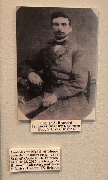 A posthumus medal of honor was given to George A. Branard, shown here. The Texas Civil War Museum, White Settlement, Texas