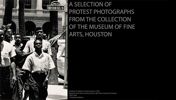 A presentation by Visual Arts Alliance of protest photographs form the MFAH by Jason Dibley