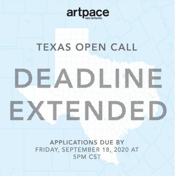 Artpace Extends Open Call Deadline