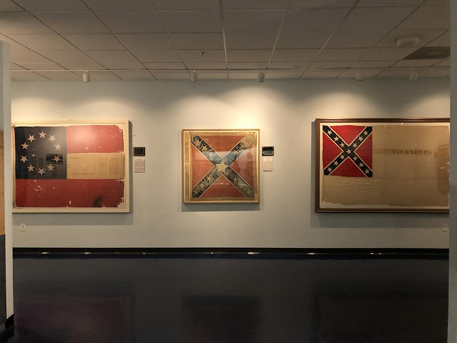 Confederat Flags on display-Texas-Civil-War-Museum-White-Settlement-TX