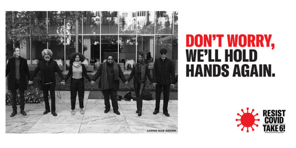 Don't Worry, we'll hold hands again, RESIST billboard