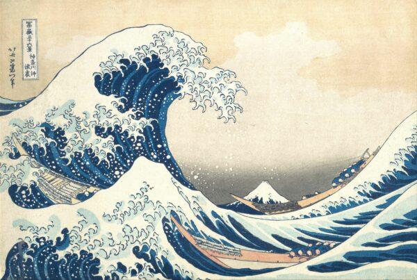 Under the Wave off Kanagawa (Kanagawa oki nami ura), also known as The Great Wave, from the series Thirty-six Views of Mount Fuji (Fugaku sanjūrokkei)