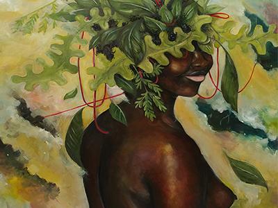 San Antonio based painter and illustrator Kwanzaa Edwards's untitled work.