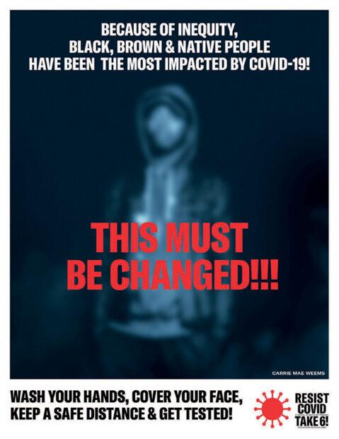 RESIST COVID, Take 6 Campaign poster