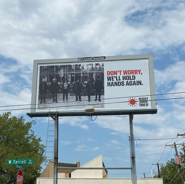 RESIST COVID-Take 6 billboard