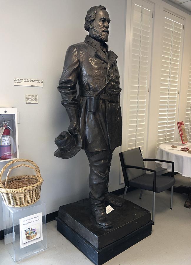 A statue of Robert E. Lee at the Texas Civil War Museum, White Settlement, Texas.