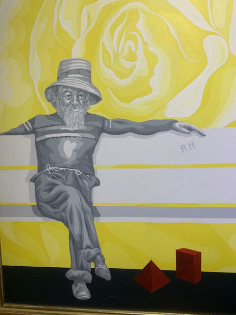 "Benini, ""Morning,"" 1976. Acrylic on canvas."