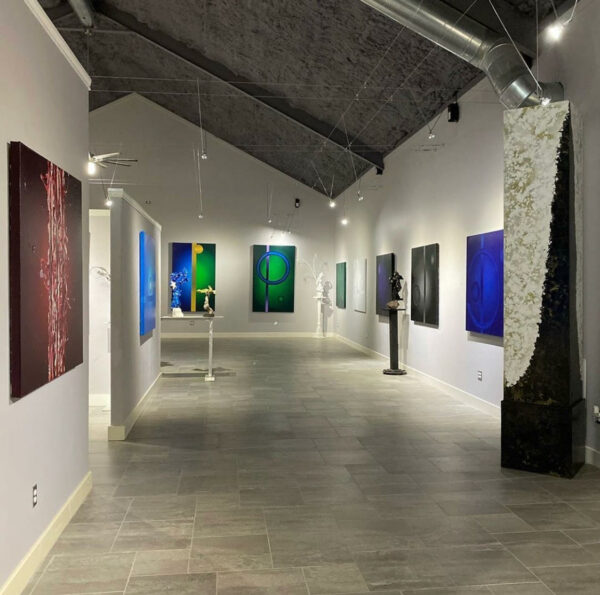 Gallery featuring Benini's recent abstract works. (Courtesy of MuseoBenini.)