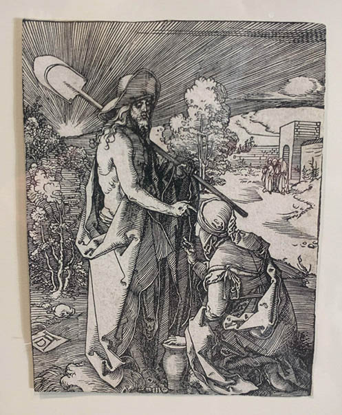 Durer, Christ Appearing to magdalen, Woodcut