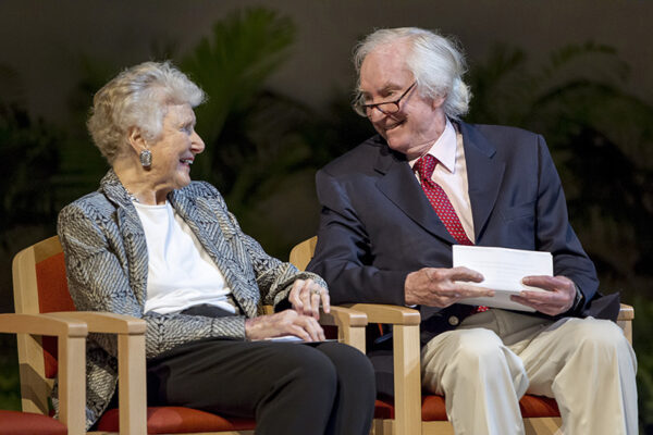 Edith O'Donnell, left, and Peter O'Donnell, in 2013. photo credit, Randy Anderson