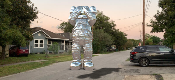 KAWS Acute Art HOLIDAY SPACE Augmented reality artwork