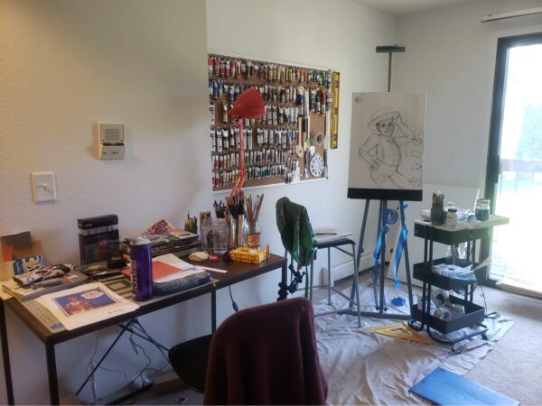Artist Lillian young's Studio