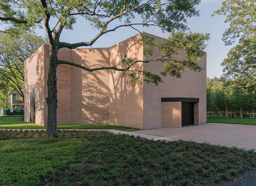 Rothko Chapel trees, Photo credit-BRYAN SCHUTMAAT for WSJ. Magazine