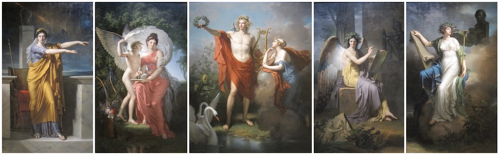 'Apollo and the Muses' by Charles Meynier, late 1700s.