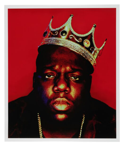 THE FAMOUS CROWN WORN BY THE NOTORIOUS B.I.G. FOR THE ICONIC K.O.N.Y [KING OF NEW YORK] PORTRAIT SESSION, SHOT BY PHOTOGRAPHER BARRON CLAIBORNE ON MARCH 6, 1997, IN HIS NEW YORK STUDIO, est. 200-k300k