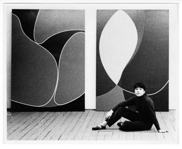 Virginia Jaramillo in her studio on Spring Street, New York City, 1968. Photo by Mitchell Trout, courtesy Virginia Jaramillo and Hales, London and New York
