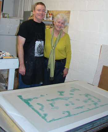 printmaking artists Patrick Masterson and Nancy Luton