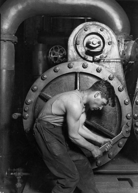 Steamfitter (1920) by Lewis Hine