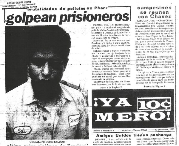Partial front page of ¡Ya Mero!, January 30, 1971.