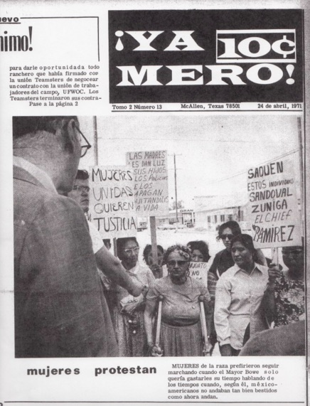 Front page of ¡Ya Mero!, April 24, 1971.