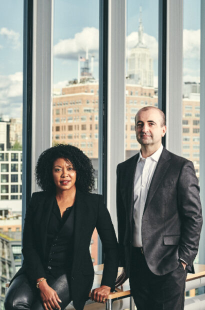 Adrienne Edwards and David Breslin. Photograph by Bryan Derballa