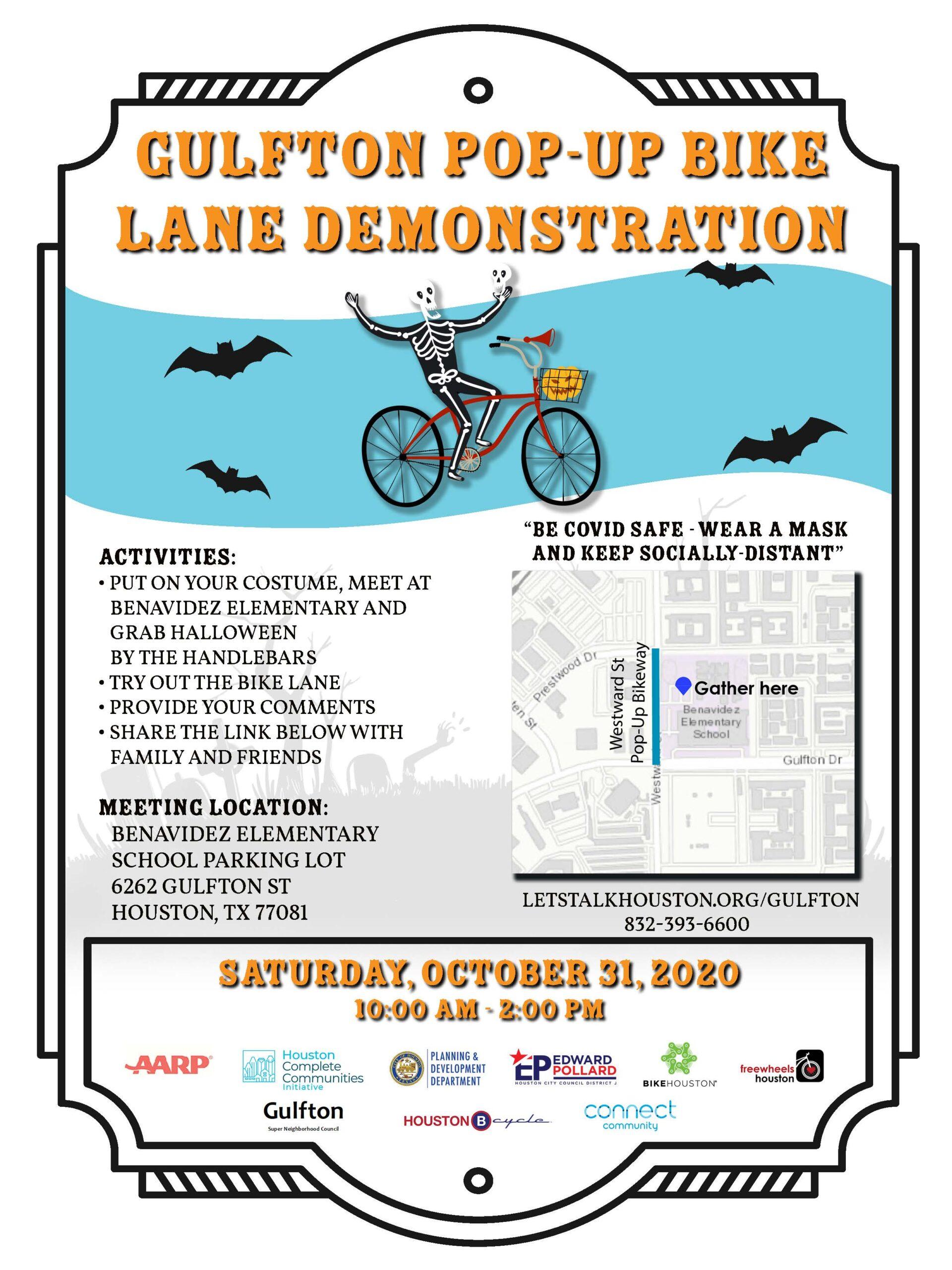 Gulfton Pop-up Bike Lane Demonstration
