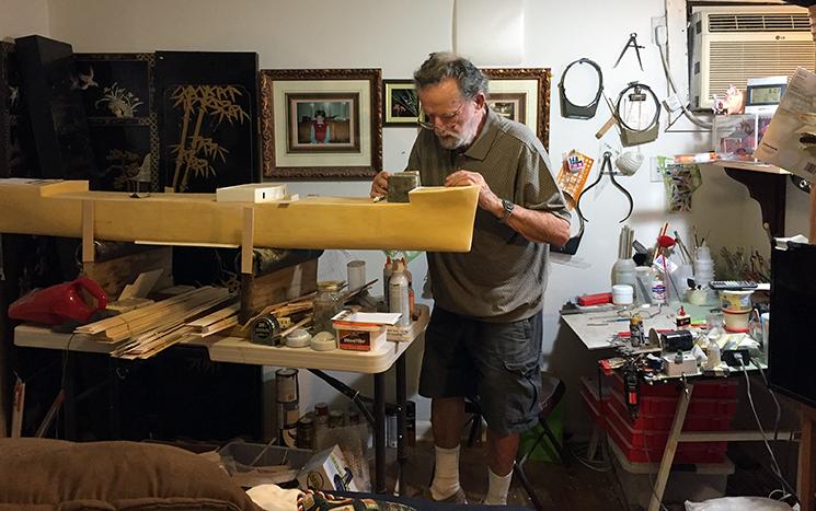 Bob Ivy in studio building Ideal X
