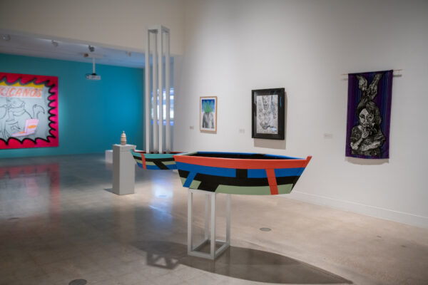Between Two Worlds, installation view, Visual Arts Center, The University of Texas at Austin
