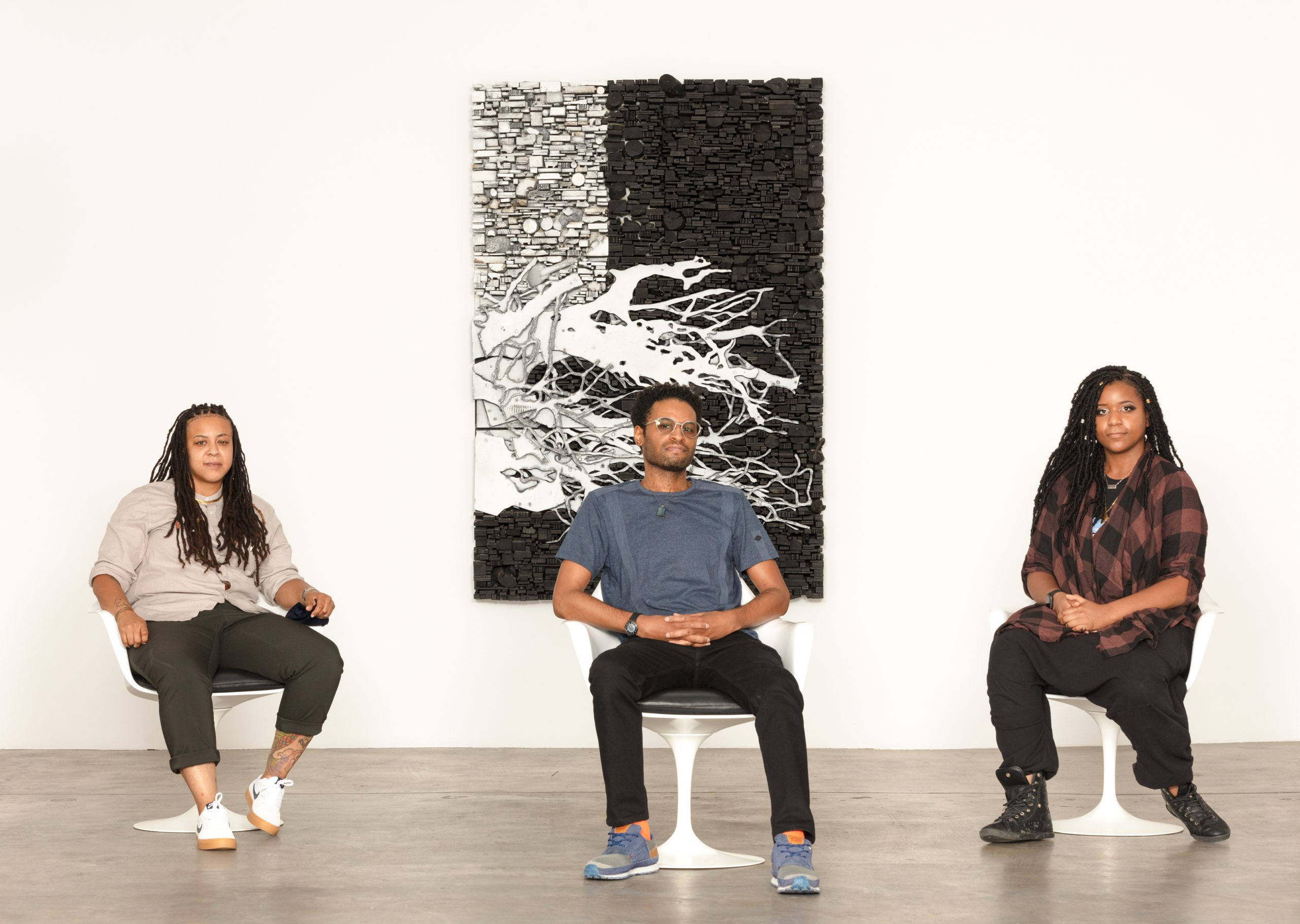 Equity in the Arts Fellowship Recipients From Left-Jer'Lisa Devezin,Kevin Owens, and Nitashia Johnson.