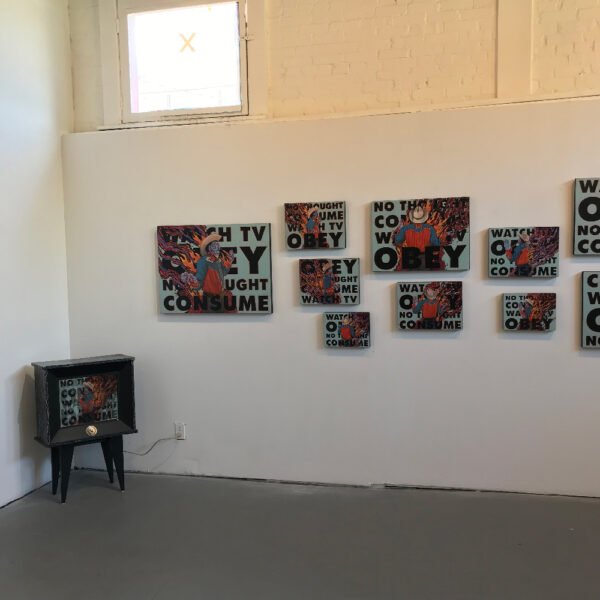 Installation View, Brian K. Jones: ...and it burns, burns, burns. at Ro2 Gallery in The Cedars, Dallas