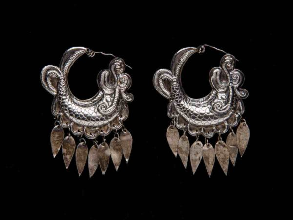 Pair of Earrings, China (Miao), first half of the 20th century.
