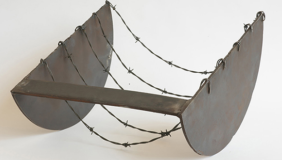 """Melvin Edwards """"Five to the Bar,"""" 1973."""