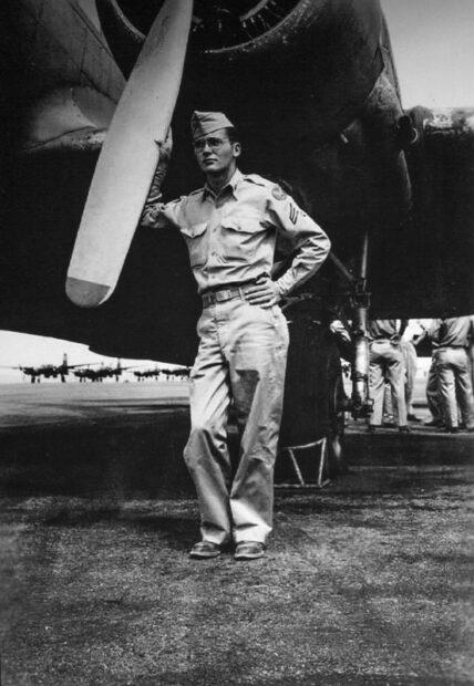 Robert Indiana at Hobbs Army Airfield in 1947-via Vertu Fine Art