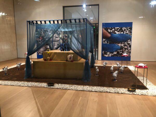 "Installation view of Vicki Meek: ""Stony the Road WeTrod."""