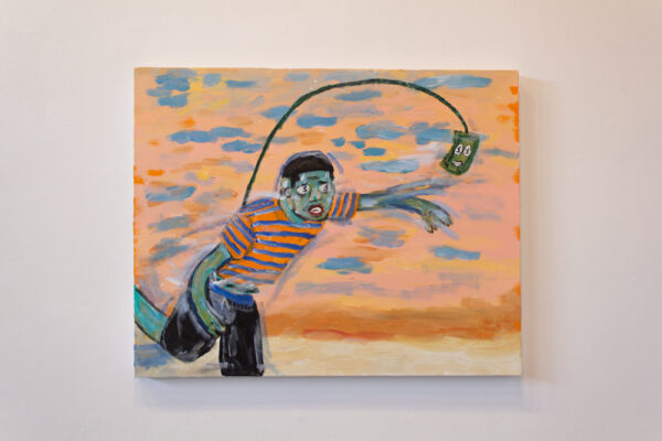 "Brandon Thompson, ""The Hustle Really Don't Stop"", Oil on Canvas at Ro2 Gallery in Dallas"