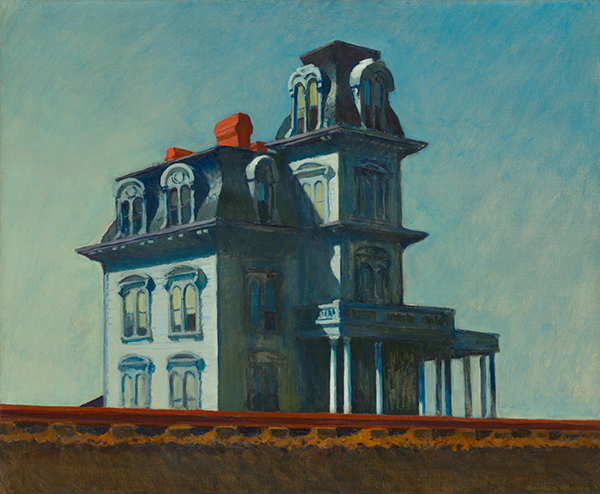 Edward Hopper House by the railroad 1925 public domain