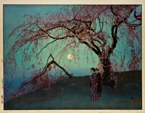 Kumoi-Zakura (Kumoi Cherry Trees) Hiroshi Yoshida 1920. Via Google Arts and Culture.