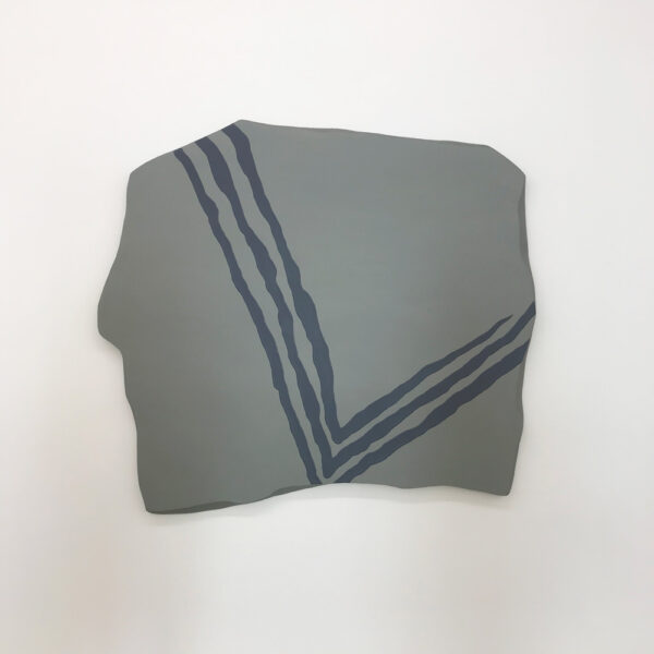 "Paul Winker, ""Untitled (2021)"", acrylic, fiber paste, spackle, canvas and wooden board, at And Now Gallery in Dallas"