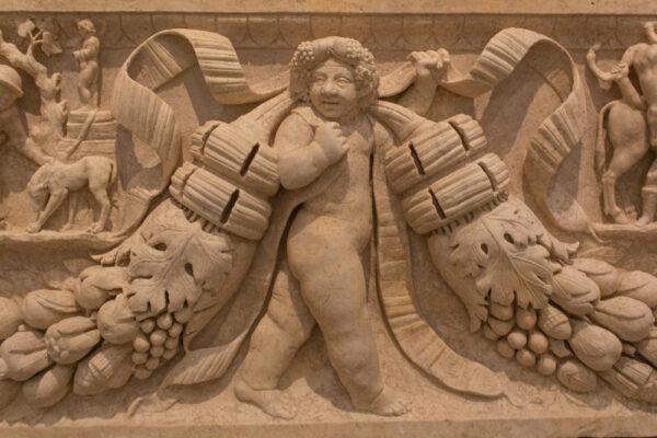 Garland Sarcophagus, Roman, ca. 130 150 A.D., Marble