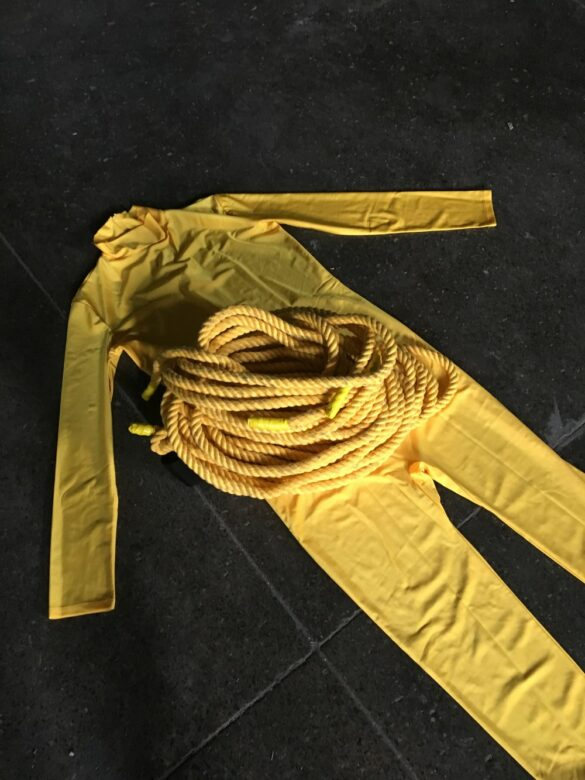 """Jumpsuit from """"SHIFT"""" April 6, 2018, Erica Felicella"""