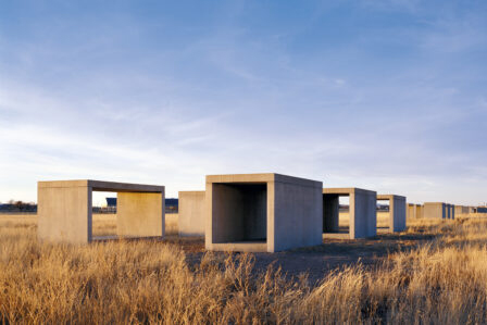 Donald Judd concrete works in Marfa Texas