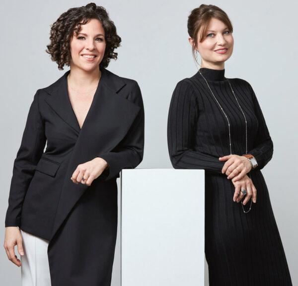Erin Cluley, left, and Nell Potasznik Langford