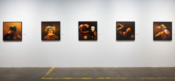 Installation view of Rotimi Fani-Kayode in the FotoFest Biennial 2020 exhibition African Cosmologies: Photography, Time, and the Other, Houston, TX. Courtesy of FotoFest. Photo: Emily Peacock.