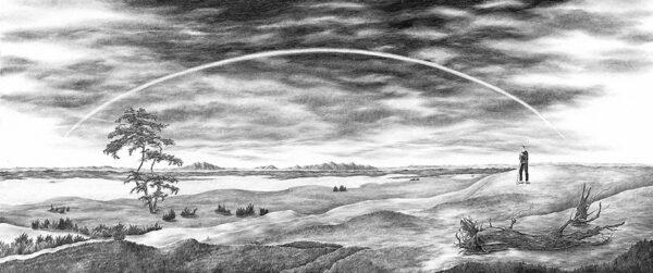 The Lost Landscape with Rainbow (based on Caspar David Friedrich) 2005