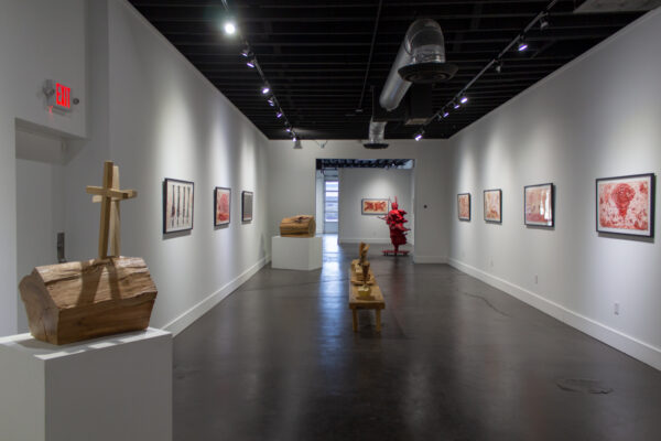 Charmaine Locke and James Surls: Chaos and Mayhem, on view at Kirk Hopper Fine Art in Dallas
