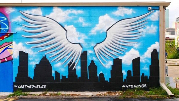 Houston wing mural wall