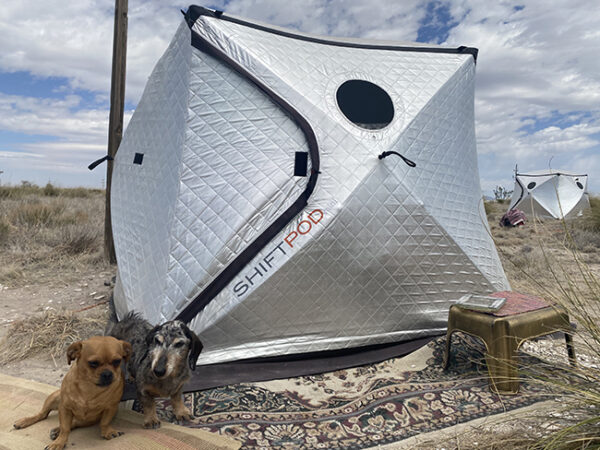 Michelle Kirk's tent at Marfa Invitational