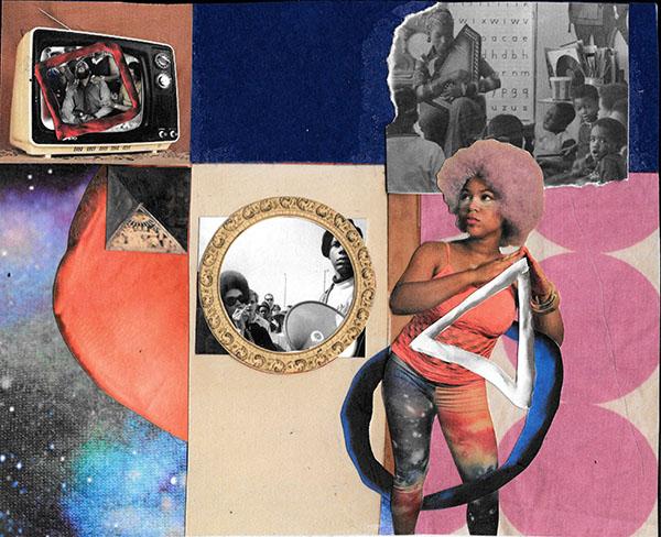 """Lesson Disruption"" Mixed media, 2015. Courtesy of Ariel René Jackson"